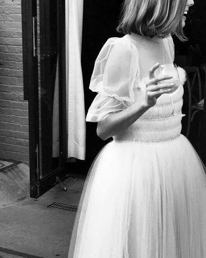 Neobični bridal look Agyness Deyn
